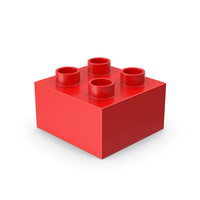 2x2 Red Brick Toy PNG & PSD Images