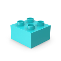 2x2 Blue Brick Toy PNG & PSD Images
