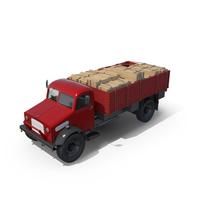 Vintage Truck Loaded PNG & PSD Images