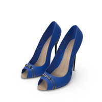 High Heels Women's Shoes Blue PNG & PSD Images