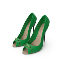 High Heels Women's Shoes Green PNG & PSD Images