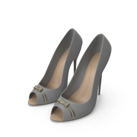 High Heels Women's Shoes Grey PNG & PSD Images