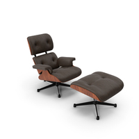 Eames Vitra Lounge Chair Brown PNG & PSD Images
