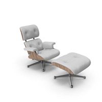 Eames Vitra Lounge Chair Oak White PNG & PSD Images