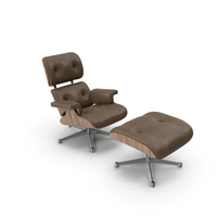 Eames Vitra Lounge Chair Oak Brown PNG & PSD Images