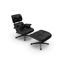 Eames Vitra Lounge Chair Black PNG & PSD Images