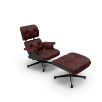 Eames Vitra Lounge Chair Black Red PNG & PSD Images