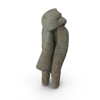 Women's Down Jacket Dirty PNG & PSD Images