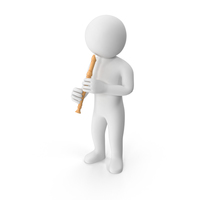 Stickman Playing Flute PNG & PSD Images