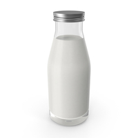 Small Bottle of Milk PNG & PSD Images