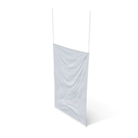Rippling Banner Vertical White PNG & PSD Images