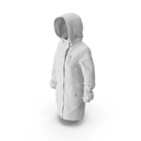 Women's Down Jacket White PNG & PSD Images