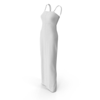 Sleeveless Long White Dress PNG & PSD Images
