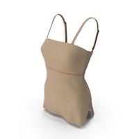Sleeveless Short Beige Dress PNG & PSD Images