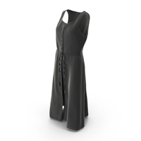 Sleeveless Button Up Black Dress PNG & PSD Images