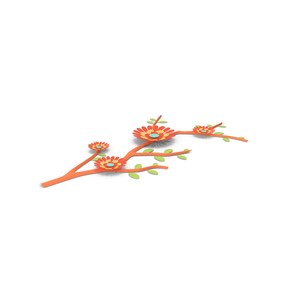 Paper Flower Branch PNG & PSD Images