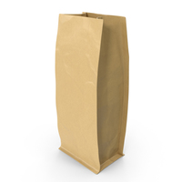 Flat Bottom Pouche 250g Open Brown PNG & PSD Images