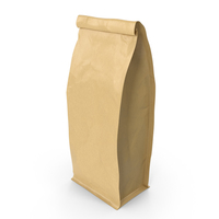 Flat Bottom Pouche 500g Closed Brown PNG & PSD Images