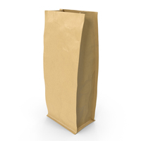 Flat Bottom Pouche 500g Open Brown PNG & PSD Images