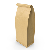 Flat Bottom Pouche 1000g Closed Brown PNG & PSD Images