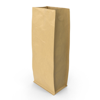 Flat Bottom Pouche 1000g Open Brown PNG & PSD Images