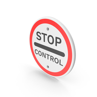 Stop Control Road Sign PNG & PSD Images