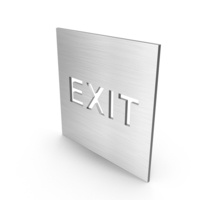 Stainless Steel Exit Sign PNG & PSD Images