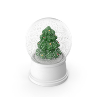 Christmas Tree Snow Globe PNG & PSD Images