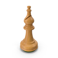 Wooden Chess Bishop PNG & PSD Images