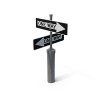 Оne Way Road Signs PNG & PSD Images