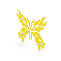 Butterfly Decal Yellow PNG & PSD Images