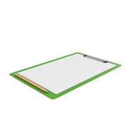 Green Notepad and Pencil PNG & PSD Images