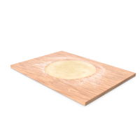 Flat Bread Pizza Dough on Board PNG & PSD Images