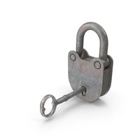 Rusted Padlock and Key PNG & PSD Images