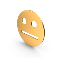 Gold Neutral Face Sign PNG & PSD Images