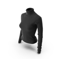 Women's Pullover Black PNG & PSD Images