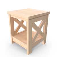 Wooden Nightstand PNG & PSD Images