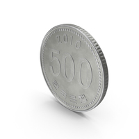 South Korean 500 Won Coin PNG & PSD Images