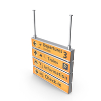 Airport Sign PNG & PSD Images