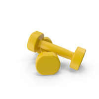 yellow dumbbells PNG & PSD Images