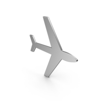Airplane Symbol Silver PNG & PSD Images