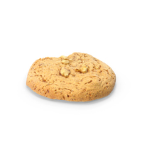 Cookie With Walnuts and Bitten PNG & PSD Images