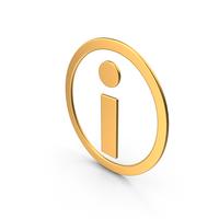 Information Symbol Gold PNG & PSD Images