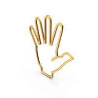 Hand Symbol Gold PNG & PSD Images