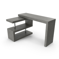 Contemporary Modern L-shape Desk PNG & PSD Images