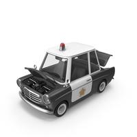 Cartoon Police Car Open Hood PNG & PSD Images