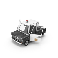 Cartoon Police Car Open Doors PNG & PSD Images