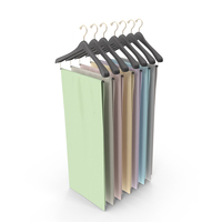 Fabrics on Hangers PNG & PSD Images