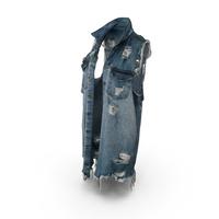 Women's Jean Vest Dark Blue PNG & PSD Images