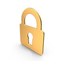 Lock Symbol Gold PNG & PSD Images
